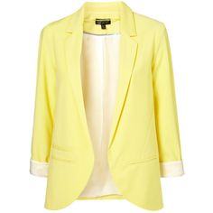 yellow blazer | Tumblr ❤ liked on Polyvore