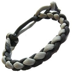 Thick 4 Strand 8mm Round Braided Survival Emergency Adjustable Paracord Bracelet…