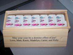 Dominoes. Custom printed dominoes using our design tool at www.customprinteddominoes.com