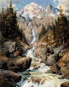 http://www.somersetfineart.com/ps-5099-1049-majestic-cascade-by-larry-dyke.aspx