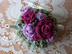 Crocheted flowers tea cosy