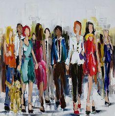 Kimberly Kiel, 'Fortune Favours The Bold 2', 40'' x 40''   Galerie d'art - Au P'tit Bonheur - Art Gallery