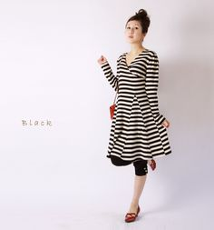 stripe dress and leggings