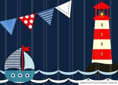 Imprimibles Baby Shower, Baby Shower Invitaciones, Nautical Baby, Nautical Theme, Baby Shower Cakes, Baby Boy Shower, Sailor Theme, Baptism Invitations, Baby Art