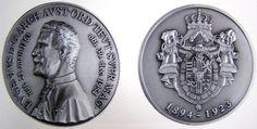 Archduke Eugen of Austria-Teschen Grand Master of the Teutonic Order, silver medal, commemorating his death. Archduke, Holy Roman Empire, The Grandmaster, Ferdinand, Austria, Knight, Coins, Lorraine, History