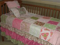 Custom Pink N Green Personalized 2  4 Pc Baby by YankeeFashions