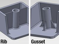 plastic part rib design - Google Search