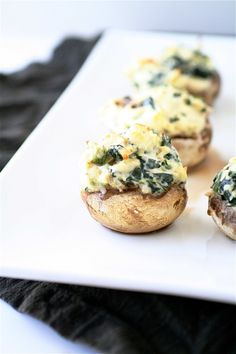 Spinach and Artichoke Stuffed Mushrooms from The Curvy Carrot