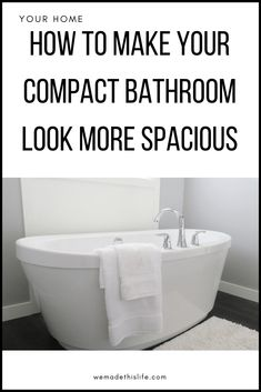 How To Make Your Compact Bathroom Look More Spacious Small Shower Room, Small Showers, Big Bathrooms, Small Bathroom, Diy Bathroom Decor, Bathroom Ideas, Compact Bathroom, Wall Mounted Sink, Home Organisation