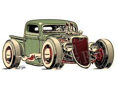 hot rod truck drawings - Google Search                                                                                                                                                                                 More