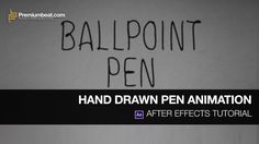 After Effects Hand Drawn Pen Tutorial on Vimeo