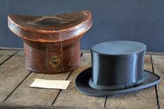 Old Collapsible Top Hat Box