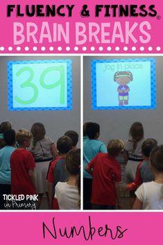 Fluency & fitness ® is a great brain break to get your kindergarten or Kindergarten Activities, Numbers Kindergarten, Preschool Printables, Reading Activities, Student Learning, Teaching Math, Number Sense Activities, Second Grade Math, Grade 2