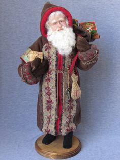 #ooaksanta#fatherchristms#handmadesanta Nonna's Santa Handmade OOAK Doll on etsy  by NonnasSantas on Etsy