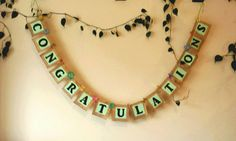 Rustic Burlap Congratulations Banner / Bridal by BootsAndDirtRoads Burlap Bridal Showers, Bridal Shower Rustic, Rustic Signs, Wooden Signs, Congratulations Banner, Baby Shower Garland, Glitter Cards, Bridal Shower Decorations, Egg Hunt