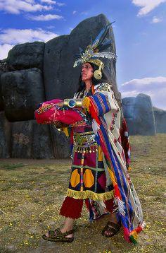 Festival Inti Raymi, em Cusco, no Peru, celebrado anualmente em memória do Festival do Sol do período incaico.