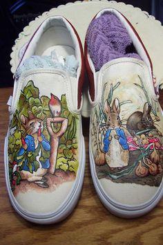 STEP Custom Hand Painted Shoes by STEPbyAlysha on Etsy, $125.00