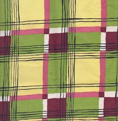 Some vintage plaid fabric from a box or bag that I picked up somewhere. Textile Prints, Textile Patterns, Textile Design, Color Patterns, Fabric Design, Print Patterns, Pattern Design, Retro Fabric, Vintage Fabrics