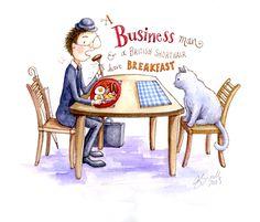 Day 8 of the drawing a day english alphabet challenge #businessman #britishshorthair #englishbreakfast