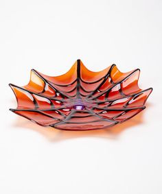 Take a look at this Orange Spider Web Plate by Transpac Imports on #zulily today!
