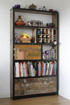 book stack - wine rack!