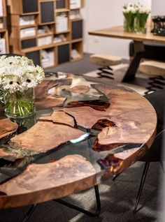 Amazing Resin Wood Table For Your Home Furniture 13