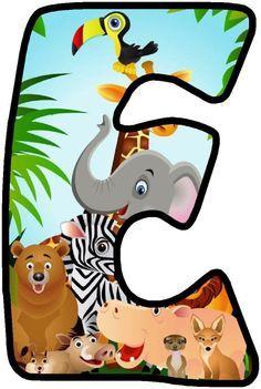 Resultado de imagem para party safari Jungle Party, Safari Party, Jungle Safari, Safari Animals, Jungle Theme Classroom, Alfabeto Animal, Safari Theme Birthday, Scrapbook Letters, Alphabet And Numbers