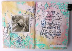 You are my sunshine – moodboard inspirációk Wreck This Journal, You Are My Sunshine, Mixed Media Art, Mood Boards, Journals, Marvel, Diaries, Mixed Media, Handmade Journals