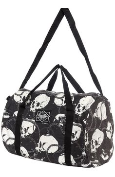 Liquorbrand Skull and Chains duffle bag