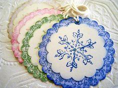 Christmas Tags Christmas Gift Tags Snowflake by CatnipStudioToo