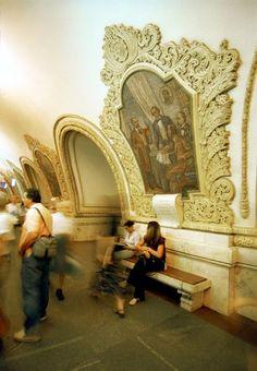 The Moscow Metro, gorgeous art