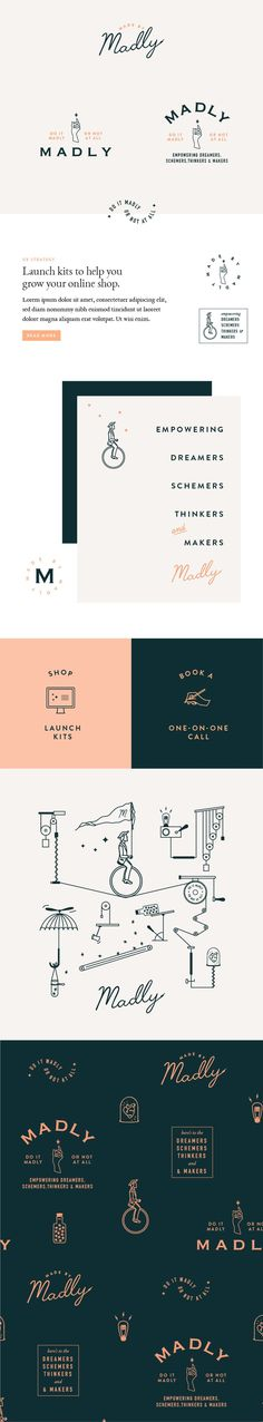 Madly Branding by Little Trailer Studio / graphic design inspiration / logo design
