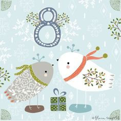 Flora Waycott Christmas Advent 2014 DAY 8 - Decorative birdies xxx