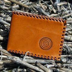 Arte...sanía: Cartera de cuero marrón con estela