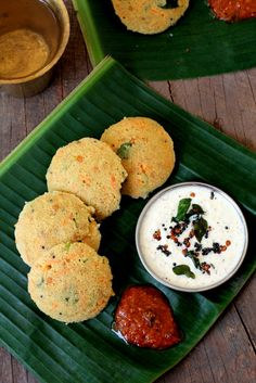 Instant oats idli recipe - a healthy, quick Indian style oatmeal dish that is steamed and served with chutney. www.sailusfood.com