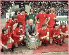 Bill Shankly & Liverpool FC with Charity Shield 1974