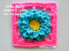 Stash Bustin' Dahlia in a Square