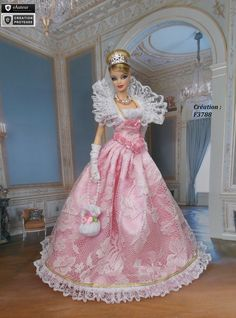 """Robe Barbie """" Théodora """" vêtement pour poupée Barbie Fashion Royalty Silkstone Muse par f3788"""