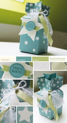 Sternenverpackung froh und munter (Kreativersum) Sternenverpackung froh und munter The post Sternenverpackung froh und munter (Kreativersum) appeared first on Cadeau ideeën. Envelope Punch Board, 3d Paper Crafts, Stampin Up Christmas, Craft Box, Diy Box, Stamping Up, Gift Packaging, Diy Cards, Card Making