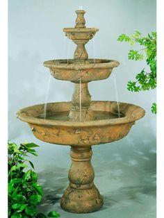 Triple Tazza Tier Spill Outdoor Fountain