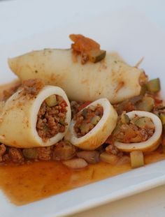 Dukan Diet stuffed squid