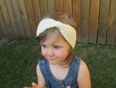 Little Cozy Ear Warmer in Off White - available in infant, toddler, and child sizes