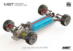 MST FX 2WD RC Drift Chassis concept - MAX SPEED TECHNOLOGY