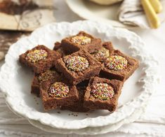 Chocolate freckle slice