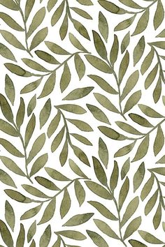 Green watercolor leaves on white. This beautiful botanical design was created b… Green watercolor leaves on white. This beautiful botanical design was created by indie designer bluebirdcoop. Available on fabric, wallpaper, and gift wrap. Aesthetic Backgrounds, Aesthetic Iphone Wallpaper, Aesthetic Wallpapers, Green Watercolor, Watercolor Leaves, Cute Wallpaper Backgrounds, Cute Wallpapers, Vintage Wallpapers, Trendy Wallpaper