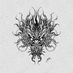 "1.0_ONE.YOUNG บน Instagram: """"기린용, kirin dragon🐲 주문제작도안입니다🔥 . . . kakao: sowy"" Cool Tattoo Drawings, Demon Drawings, Japanese Hand Tattoos, Japanese Drawings, Dragon Hand Tattoo, Oni Art, Oni Tattoo, Japan Tattoo Design, Venus Tattoo"