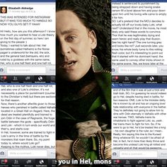 Apologies if it's a bit hard to read, but I felt the need to share this little Loki theory I wrote! It's basically about where he might go if the MCU did in fact decide to kill off our lovely baby Loki. Enjoy! (Feel free to add any additional thoughts or opinions!)