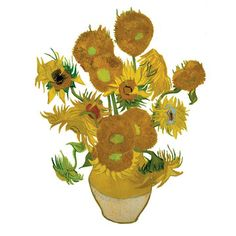 Van Gogh Sunflowers Decal 3 Pack  by Suseela Gorter    < Return to OOTS!  3  0        $31.50fab        $45 retail price      Quantity      Add to Cart    This Van Gogh Irises Floral Decal 3 Pack is a special edition, made with exclusive permission from the Van Gogh Museum in Amsterdam. Designed by Dutch designer Suseela Gorter, the decals are not adhesive, rather they are made of a static material that allows you to use them over and over again. Whether you cling them to the window of your…