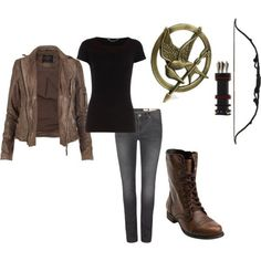 katniss+everdeen+hunting+costume | Katniss Everdeen