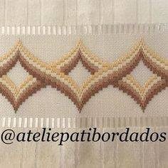 Patricia S. Motifs Bargello, Broderie Bargello, Bargello Patterns, Bargello Needlepoint, Bargello Quilts, Needlepoint Stitches, Needlework, Embroidery Designs, Cute Embroidery